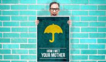 How i Met Your Mother yellow umbrella Art Pint - Wall Art Print Poster   - Purple Geekery